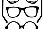 plantilla lapiz 3d gafas